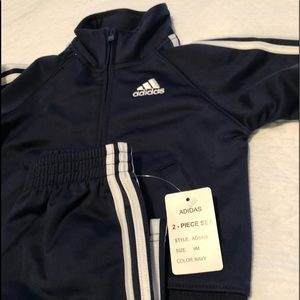 Adidas 9mo Infant Child Track Running Suit Jacket